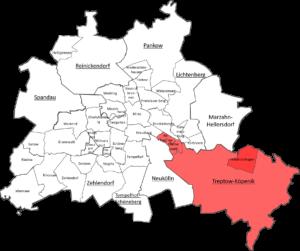 Carte quartier Berlin Treptow