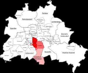Carte quartier Berlin Tempelhof